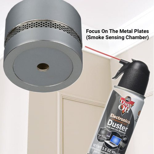 Air Duster To Clean Smoke Alarm