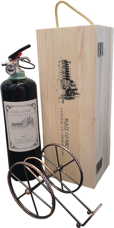 Red Wine Bottle Fire Extinguisher