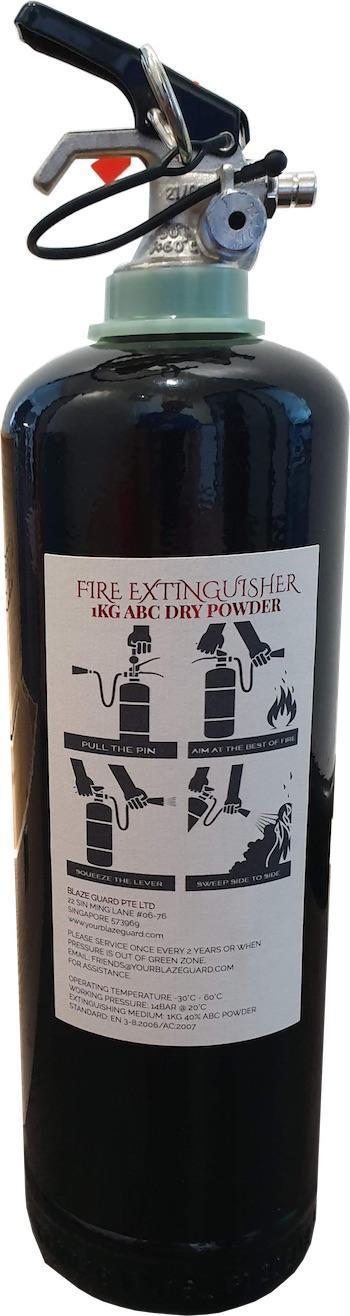 Red Wine Bottle Fire Extinguisher - Back